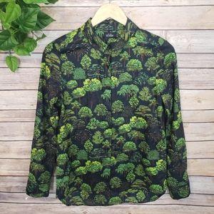Kate Spade Saturday Tree Print Button Down Shirt